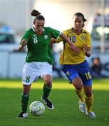 25 June 2008; Aine O'Gorman, Republic of Ireland, in action against Jessica Landstrom, Sweden. UEFA Women's European Championship Qualifier, Group 2, Republic of Ireland v Sweden, Carlisle Grounds, Bray, Co. Wicklow. Picture credit: Stephen McCarthy / SPORTSFILE