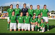 25 June 2008; The Republic of Ireland team. Back row, from left, Niamh Fahy, Stefanie Curtis, Emma Byrne, Yvonne Tracy, Alisha Moran and Ciara Grant. Front row, from left, Marie Curtin, Michele O'Brien, Aine O'Gorman, Katie Taylor and Edel Malone. UEFA Women's European Championship Qualifier, Group 2, Republic of Ireland v Sweden, Carlisle Grounds, Bray, Co. Wicklow. Picture credit: Stephen McCarthy / SPORTSFILE