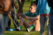 16 May 2015; Offaly's Anton Sullivan signs an autograph for a supporter after the game. Leinster GAA Football Senior Championship, Round 1, Offaly v Longford, O'Connor Park, Tullamore, Co. Offaly. Picture credit: Ray McManus / SPORTSFILE