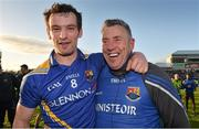 16 May 2015; The Longford manager Jack Sheedy and Graham Guilfoyle after the game. Leinster GAA Football Senior Championship, Round 1, Offaly v Longford, O'Connor Park, Tullamore, Co. Offaly. Picture credit: Ray McManus / SPORTSFILE