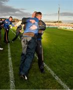 16 May 2015; The Longford manager Jack Sheedy and selector Philip Kiernan after the game. Leinster GAA Football Senior Championship, Round 1, Offaly v Longford, O'Connor Park, Tullamore, Co. Offaly. Picture credit: Ray McManus / SPORTSFILE