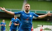17 May 2015; Alan McGreal, Crumlin United, celebrates after scoring his side's first goal . FAI Umbro Intermediate Cup Final, Tolka Rovers v Crumlin United. Aviva Stadium, Lansdowne Road, Dublin. Picture credit: David Maher / SPORTSFILE