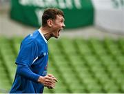 17 May 2015; Ger Rowe, Crumlin United, celebrates after scoring his side's second goal. FAI Umbro Intermediate Cup Final, Tolka Rovers v Crumlin United. Aviva Stadium, Lansdowne Road, Dublin. Picture credit: David Maher / SPORTSFILE