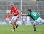 15 June 2008; Carthach Keane, Cork, in action against John O'Connell, Limerick. Munster Junior Football Championship Semi-Final, Limerick v Cork, Gaelic Grounds, Limerick. Picture credit: Matt Browne / SPORTSFILE