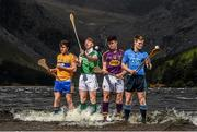 19 May 2015; U-21 hurling stars, from left, Shane O'Donnell, Clare, Cian Lynch, Limerick, Conor McDonald, Wexford, and Cian O'Callaghan, Dublin, pictured at the launch of the 2015 Bord Gáis Energy GAA Hurling U-21 All-Ireland Championship at Glendalough, Co. Wicklow. The Championship gets started on May 27th with three quarter finals down for decision in the Leinster Championship. For all the latest Championship news, fixtures and results visit www.BGEu21.ie. Bord Gais Energy U21 Launch. Glendalough, Co. Wicklow. Picture credit: Stephen McCarthy / SPORTSFILE