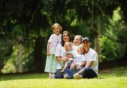 2 July 2008; Annette Kealy winner of this year's Flora Women's Mini-Marathon in Dublin at the Launch of Athletics Ireland Family Fitness Festival with her husband Eoin Brady and children, from left, Ellie, 6, Sean, 3, Lia, 9,  Aaron, 1. Farmleigh, Phoenix Park, Dublin. For more information visit www.familyfitnessfestival.ie. Picture credit: Matt Browne / SPORTSFILE
