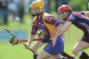5 July 2008; Deirdre Codd, Wexford, in action against Catriona Cormican, Galway. Gala All-Ireland Senior Campionship, Galway v Wexford, Kilimor, Co. Galway. Picture credit: Ray Ryan / SPORTSFILE