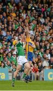 24 May 2015; Jack Browne, Clare, in action against Paul Browne, Limerick. Munster GAA Hurling Senior Championship Quarter-Final, Clare v Limerick. Semple Stadium, Thurles, Co. Tipperary. Picture credit: Dáire Brennan / SPORTSFILE