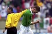 4 June 2000; Dominic Foley of Republic of Ireland celebrates after scoring his side's second goal during the US Nike Cup game between Republic of Ireland and Mexico at Soldier Field in Chicago, Illnois, USA. Photo by David Maher/Sportsfile