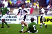 4 June 2000; Gerardo Torrado of Mexico gestures towards Jason McAteer of Republic of Ireland during the US Nike Cup game between Republic of Ireland and Mexico at Soldier Field in Chicago, Illnois, USA. Photo by David Maher/Sportsfile