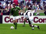 4 June 2000; Jason McAteer of Republic of Ireland in action against Gerardo Torrado of Mexico during the US Nike Cup game between Republic of Ireland and Mexico at Soldier Field in Chicago, Illnois, USA. Photo by David Maher/Sportsfile