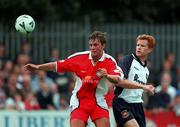 23 July 2000; Jamie Harris, St Patrick's Athletic, in action against Hayden Fox, West Ham United. St Patrick's Athletic v  West Ham United. Soccer. Picture credit; David Maher/SPORTSFILE