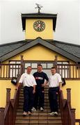 27 July 2000; Dublin footballers, from left, Paul Curran, Jim Gavin and Dessie Farrell pictured at Hollystown Golf Club. Football. Picture credit; Brendan Moran/SPORTSFILE