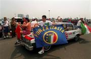 18 June 1994; Italy supporters prior to the FIFA World Cup 1994 Group E match between Republic of Ireland and Italy at Giants Stadium in New Jersey, USA. Photo by David Maher/Sportsfile