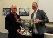 30 May 2015; Derry great Anthony Tohill with Adrian McGrath, both from Swatragh, at today's Bord Gáis Energy Legends Tour at Croke Park where he relived some of most memorable moments from his playing and managerial career. All Bord Gáis Energy Legends Tours include a trip to the GAA Museum, which is home to many exclusive exhibits, including the official GAA Hall of Fame. For booking and ticket information about the GAA legends for this summer's tours visit www.crokepark.ie/gaa-museum. Croke Park, Dublin. Picture credit: Piaras Ó Mídheach / SPORTSFILE