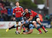 30 May 2015; Josh Strauss, Glasgow Warriors, is tackled by Cj Stander, Munster. Guinness PRO12 Final, Munster v Glasgow Warriors. Kingspan Stadium, Ravenhill Park, Belfast. Picture credit: Paul Mohan / SPORTSFILE