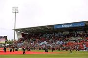 30 May 2015; A general view as the teams make their way on to the pitch. Guinness PRO12 Final, Munster v Glasgow Warriors. Kingspan Stadium, Ravenhill Park, Belfast. Picture credit: Paul Mohan / SPORTSFILE