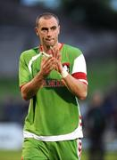 17 July 2008; Dan Murray, Cork City, applauds his side's supporters after the game. UEFA Cup First Qualifying Round, 1st Leg, Cork City v FC Haka, Turners Cross, Cork. Picture credit: Stephen McCarthy / SPORTSFILE