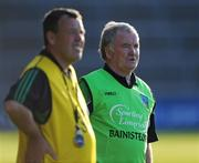 12 July 2008; Limerick manager Richie Bennis and coach Gary Kirby to his right. GAA Hurling All-Ireland Senior Championship Qualifier, Round 3, Limerick v Offaly, Gaelic Grounds, Limerick. Picture credit: Ray McManus / SPORTSFILE