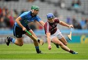 31 May 2015; Michael Carton, Dublin, in action against Cyril Donnellan, Galway. Leinster GAA Hurling Senior Championship, Quarter-Final, Dublin v Galway, Croke Park, Dublin. Picture credit: Seb Daly / SPORTSFILE