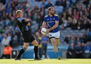 31 May 2015; Referee Conor Lane leans back as Longford's Diarmuid Masterson makes his way up field. Leinster GAA Football Senior Championship, Quarter-Final, Dublin v Longford, Croke Park, Dublin. Picture credit: Ray McManus / SPORTSFILE