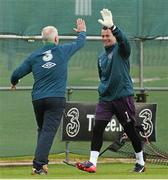 1 June 2015; Republic of Ireland's Shay Given and goalkeeping coach Seamus McDonagh during squad training. Republic of Ireland Squad Training, Gannon Park, Malahide, Co. Dublin. Picture credit: David Maher / SPORTSFILE