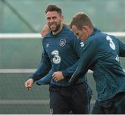 1 June 2015; Republic of Ireland's Daryl Murphy in action during squad training. Republic of Ireland Squad Training, Gannon Park, Malahide, Co. Dublin. Picture credit: David Maher / SPORTSFILE