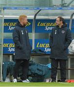 1 June 2015; Republic of Ireland manager Martin O'Neill and Paul McShane during squad training. Republic of Ireland Squad Training, Gannon Park, Malahide, Co. Dublin. Picture credit: David Maher / SPORTSFILE