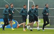 1 June 2015; Republic of Ireland players during squad training. Republic of Ireland Squad Training, Gannon Park, Malahide, Co. Dublin. Picture credit: David Maher / SPORTSFILE