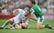 3 August 2008; Alan Smyth, Kildare, in action against Ryan McCloskey, Fermanagh. All-Ireland Senior Football Championship Qualifier, Round 3, Fermanagh v Kildare, Croke Park, Dublin. Picture credit: David Maher / SPORTSFILE