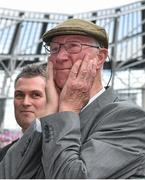 7 June 2015; Former Republic of Ireland manager Jack Charlton is introduced to the crowd before the game. Three International Friendly, Republic of Ireland v England. Aviva Stadium, Lansdowne Road, Dublin. Picture credit: David Maher / SPORTSFILE