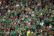 7 June 2015; Republic of Ireland supporters during the game. Three International Friendly, Republic of Ireland v England. Aviva Stadium, Lansdowne Road, Dublin. Picture credit: Ramsey Cardy / SPORTSFILE