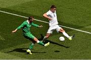 7 June 2015; Aiden McGeady, Republic of Ireland, in action against Gary Cahill, England. Three International Friendly, Republic of Ireland v England. Aviva Stadium, Lansdowne Road, Dublin. Picture credit: Ramsey Cardy / SPORTSFILE