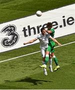 7 June 2015; Jeff Hendrick, Republic of Ireland, in action against James Milner, England. Three International Friendly, Republic of Ireland v England. Aviva Stadium, Lansdowne Road, Dublin. Picture credit: Ramsey Cardy / SPORTSFILE
