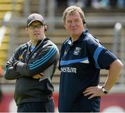 24 May 2015; Cavan manager Terry Hyland, right, with selector Kevin Downes. Ulster GAA Football Senior Championship Quarter-Final, Cavan v Monaghan. Kingspan Breffni Park, Cavan. Picture credit: Oliver McVeigh / SPORTSFILE