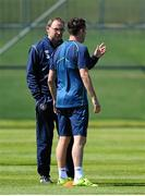 11 June 2015; Republic of Ireland manager Martin O'Neill, left, in conversation with Robbie Keane during squad training. Gannon Park, Malahide, Co. Dublin. Picture credit: Seb Daly / SPORTSFILE