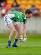 13 June 2015; Laois goalkeeper Graham Brody reacts after Kildare's Cathal McNally scored his sides second goal. Leinster GAA Football Senior Championship, Quarter-Final Replay Kildare v Laois. O'Connor Park, Tullamore, Co. Offaly. Picture credit: Piaras Ó Mídheach / SPORTSFILE
