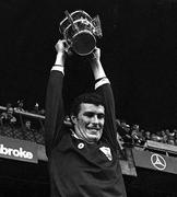 7 September 1980; Galway captain Joe Connolly lifts the Liam MacCarthy Cup after victory over Limerick. All Ireland Hurling Final, Galway v Limerick, Croke Park, Dublin. Photo by Ray McManus/Sportsfile