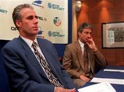 File Pic: Rep of Ireland manager Mick McCarthy with Assistant Manager Ian Evans at a press conference. 13/3/96. Soccer.Photograph: David Maher / SPORTSFILE.