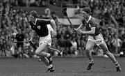 7 September 1980; Galway's Bernie Forde in action against Dom Punch, Limerick. All Ireland Hurling Final, Galway v Limerick, Croke Park, Dublin. Photo by Ray McManus/Sportsfile