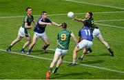 14 June 2015; Meath players, left to right, James McEntee, Adam Flanagan, and Nicky Judge, in action against Wicklow players, left to right, John McGrath, and Stephen Kelly. Leinster GAA Football Senior Championship Quarter-Final, Meath v Wicklow. Páirc Táilteann, Navan, Co. Meath. Picture credit: Dáire Brennan / SPORTSFILE