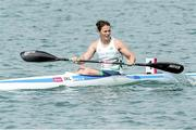 16 June 2015; Jenny Egan, Ireland, after competing in the B final of the Canoe Sprint Women's Kayak Single (K1) 500m event. 2015 European Games, Mingachevir, Baku, Azerbaijan. Picture credit: SPORTSFILE