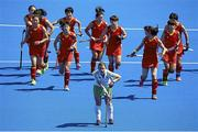 18 June 2015; Lizzie Colvin, Ireland, reacts after China scored a goal. Women's World League Round 3, Ireland v China. Valencia, Spain. Picture credit: David Aliaga / SPORTSFILE