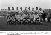 26 September 1976; The Dublin team, back row, left to right, Kevin Moran, Anton O'Toole, Seán Doherty, Jimmy Keaveney, Paddy Cullen, John McCarthy, Tommy Drumm, Bernard Brogan, Bobby Doyle, front row, left to right, Brian Mullins, Robbie Kelleher, Pat O'Neill, Tony Hanahoe, David Hickey, Gay O'Driscoll. All-Ireland Football Final, Dublin v Kerry, Croke Park, Dublin. Picture credit: Connolly Collection / SPORTSFILE
