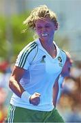 18 June 2015; Chloe Watkins, Ireland, celebrates her goal. Women's World League Round 3, Ireland v China. Valencia, Spain. Picture credit: David Aliaga / SPORTSFILE