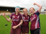 24 August 2008; Therese Manton, Galway, celebrates with team-mates Sarah Dervan, left, and Susan Earner, right. Gala All-Ireland Camogie Semi-Final, Wexford v Galway, Nowlan Park, Kilkenny. Picture credit: Matt Browne / SPORTSFILE