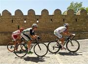 21 June 2015; Dario Cataldo, Italy, right, and Eddie Dunbar, Ireland, during the Men's Cycling Road Race event. 2015 European Games, Baku, Azerbaijan. Picture credit: Stephen McCarthy / SPORTSFILE