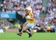 31 August 2008; Eric Bradley, Wexford, in action against Colin Holmes, Tyrone. GAA Football All-Ireland Senior Championship Semi-Final, Tyrone v Wexford, Croke Park, Dublin. Picture credit: Pat Murphy / SPORTSFILE