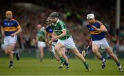 21 June 2015; Graeme Mulcahy, Limerick, in action against Shane McGrath, Paddy Stapleton and Brendan Maher, Tipperary. Munster GAA Hurling Senior Championship, Semi-Final, Limerick v Tipperary, Gaelic Grounds, Limerick. Picture credit: Brendan Moran / SPORTSFILE
