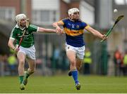 21 June 2015; Patrick Maher, Tipperary, in action against Tom Condon, Limerick. Munster GAA Hurling Senior Championship, Semi-Final, Limerick v Tipperary, Gaelic Grounds, Limerick. Picture credit: Brendan Moran / SPORTSFILE